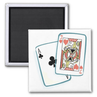 Ace and Jack Poker Cards Magnet