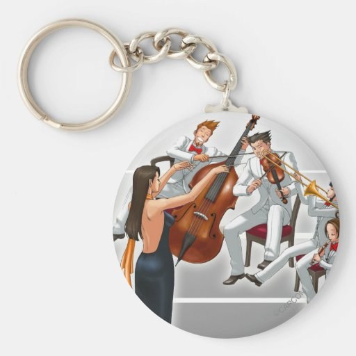 Ace Attorney Orchestra Basic Round Button Keychain