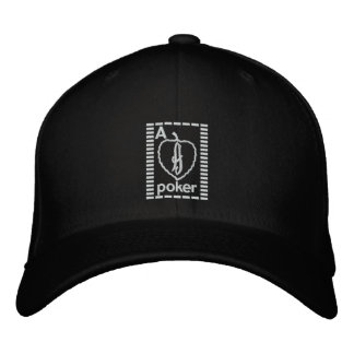 Ace Card Poker Embroidered Hat