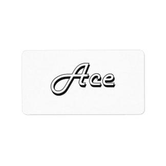 Ace Classic Retro Name Design Address Label