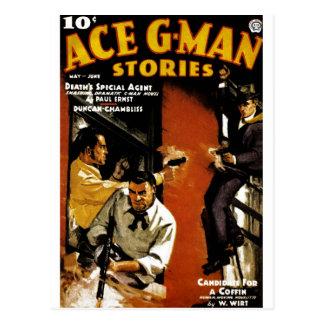Ace G-Man Stories Postcard