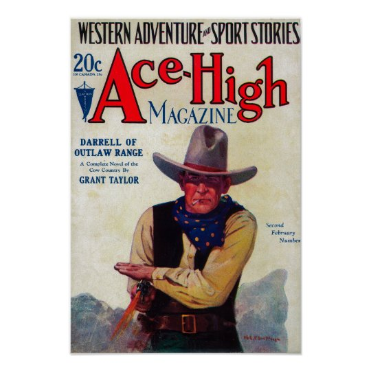 Ace High Magazine Cover Poster