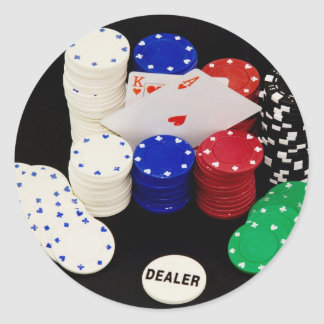 Ace King Classic Round Sticker