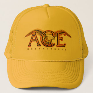 Ace motorcycles logo trucker hat