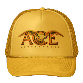 Ace motorcycles logo trucker hat