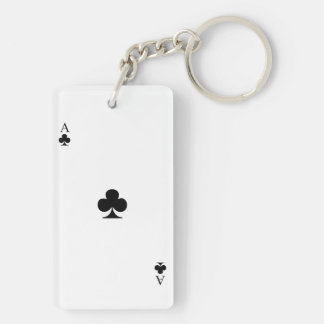 Ace of Clubs Keychain