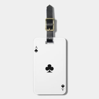 Ace of Clubs Luggage Tag