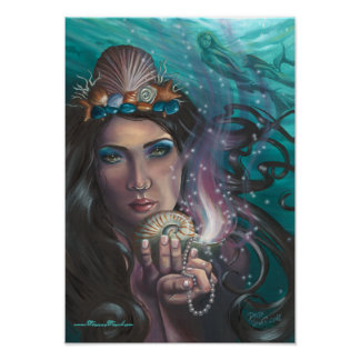 Ace of Cups Poster Mermaid Poster
