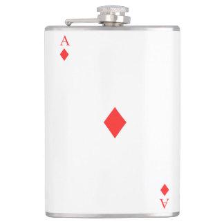 Ace of Diamonds Hip Flask