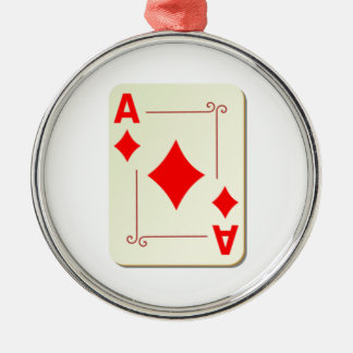 Ace of Diamonds Playing Card Metal Ornament