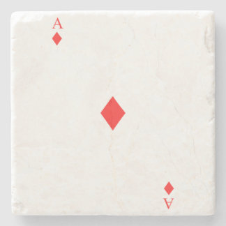 Ace of Diamonds Stone Coaster