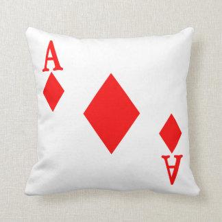Ace of Diamonds Throw Pillow