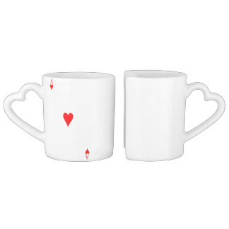 Ace of Hearts Coffee Mug Set