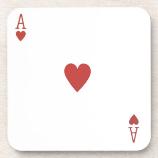 Ace of Hearts Playing Card coaster
