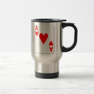 Ace of Hearts Playing Card Travel Mug