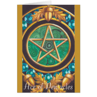 Ace of Pentacles Greeting Card