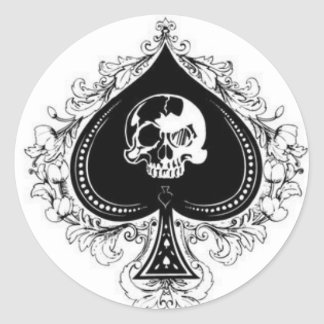 ace_of_spades1 classic round sticker