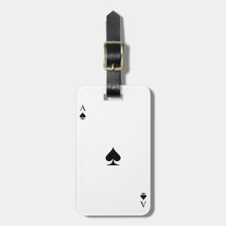 Ace of Spades Bag Tag
