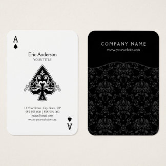 Ace Of Spades Business Card