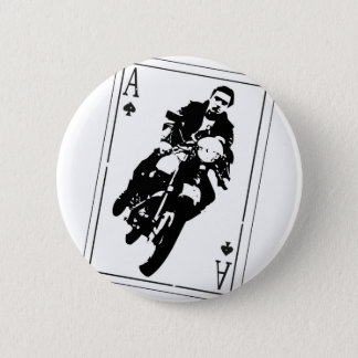 Ace of Spades Cafe Racer 2 Inch Round Button