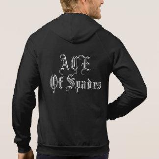 Ace of spades cut off hoodie
