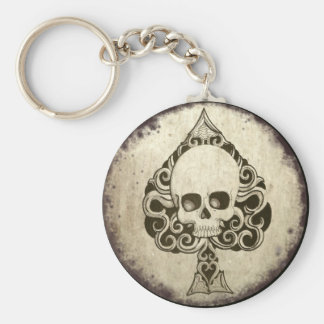 Ace of Spades Death card key chain