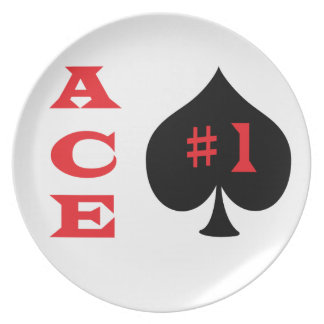 Ace of spades dinner plates
