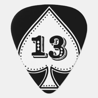 Ace of Spades Number 13 Rock and Roll Guitar Pick