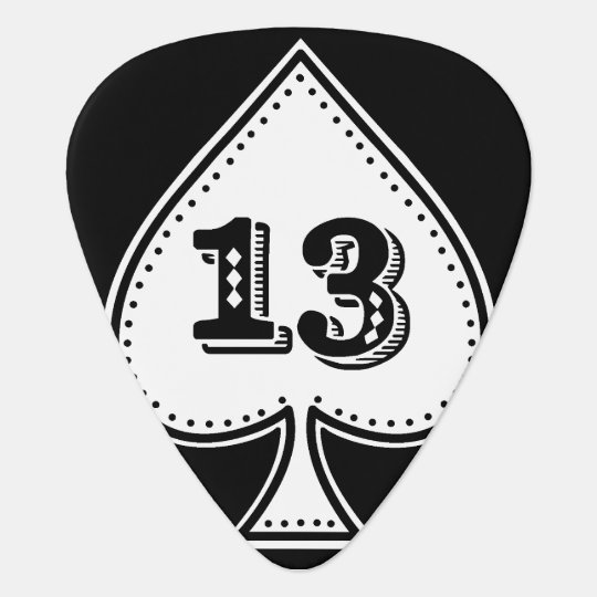 Ace of Spades Number 13 Rock and Roll Pick