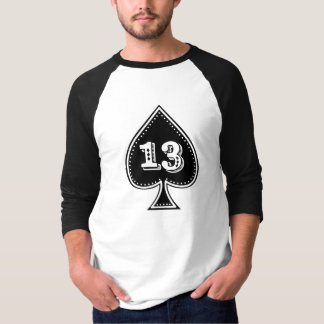 Ace of Spades Number 13 Rock and Roll T-Shirt