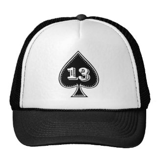 Ace of Spades Number 13 Rock and Roll Trucker Hat