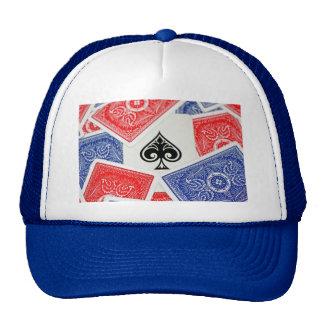 Ace of spades on cap trucker hat
