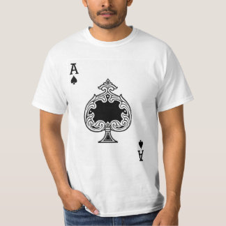 Ace of Spades Playing Card T-Shirt