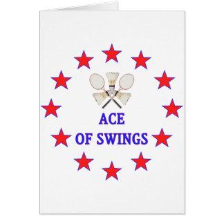 Ace of Swings Badminton Greeting Cards