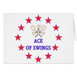 Ace of Swings Badminton Card