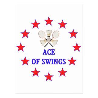 Ace of Swings Badminton Post Card