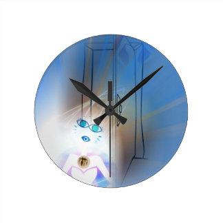 Ace Of Swords Round Clock