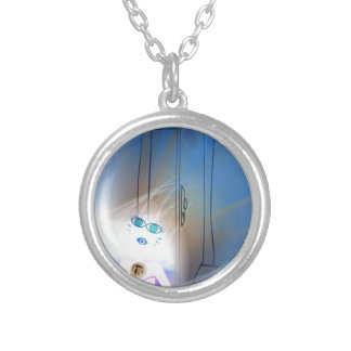 Ace Of Swords Silver Plated Necklace