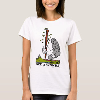 ACE OF WANDS TARORT CARD DESIG BY LIZ LOZ T-Shirt