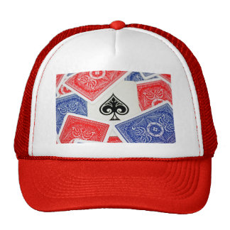Ace on hat