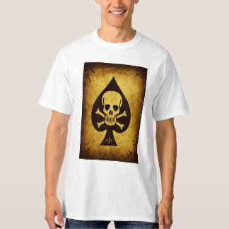 Ace poker shirt with Death Skull