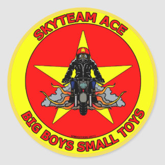 "Ace Racer ""Small Toys"" Classic Round Sticker"