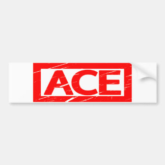 Ace Stamp Bumper Sticker