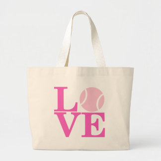 Ace Tennis LOVE Large Tote Bag