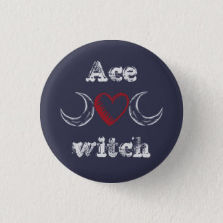 Ace witch (asexual) badge / 1 inch round button