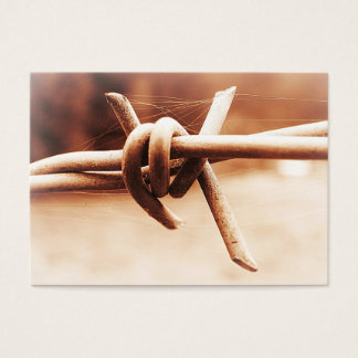 ACEO Sepia Barbed Wire Close Up Business Card