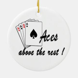 Aces Above the Rest Ceramic Ornament