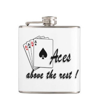 Aces Above the Rest Hip Flask