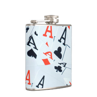 Aces In A Layered Pattern, Hip Flask