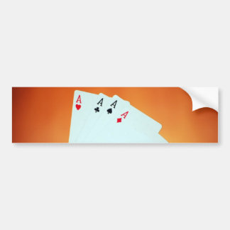 Aces-in-hand1892 CARDS ACES POKER GAMBLING GAMES P Bumper Sticker